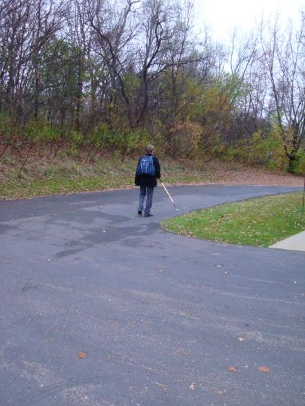 Garrett walking