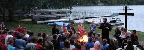 Camp Jim bonfire